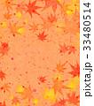 紅葉 模様 和紙風のイラスト 33480514