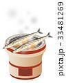 サンマ 秋刀魚 七輪 網焼き 33481269