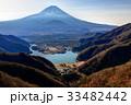 精進峠付近から望む富士山と精進湖 33482442