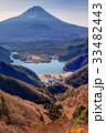 精進峠付近から望む富士山と精進湖 33482443