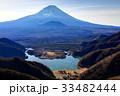 精進峠付近から望む富士山と精進湖 33482444