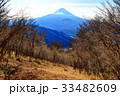 三方分山山頂から望む冬の富士山 33482609