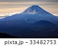 三方分山山頂から眺める冬の富士山 33482753