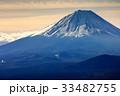 三方分山山頂から眺める冬の富士山 33482755