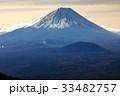 三方分山山頂から眺める冬の富士山 33482757