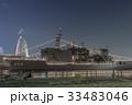護衛艦 海上自衛隊 ライトアップの写真 33483046