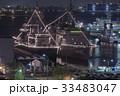 護衛艦 海上自衛隊 ライトアップの写真 33483047