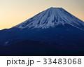 精進湖・パノラマ台から見る未明の富士山 33483068
