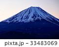 精進湖・パノラマ台から見る未明の富士山 33483069