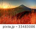 富士山 夜明け 冬の写真 33483086