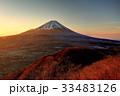 富士山 夜明け 冬の写真 33483126