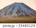 精進湖パノラマ台から見る夜明けの富士山 33483129