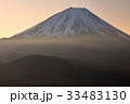 精進湖パノラマ台から見る夜明けの富士山 33483130