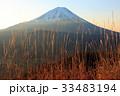富士山 夜明け 冬の写真 33483194