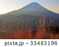 富士山 夜明け 冬の写真 33483196