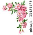 ピンクのバラの上部フレーム素材 33484173