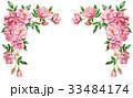 ピンクのバラの上部フレーム素材 33484174