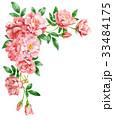ピンクのバラの上部フレーム素材 33484175