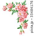 ピンクのバラの上部フレーム素材 33484176