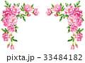 ピンクのバラの上部フレーム素材 33484182