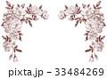 バラの上部フレーム素材セピア 33484269