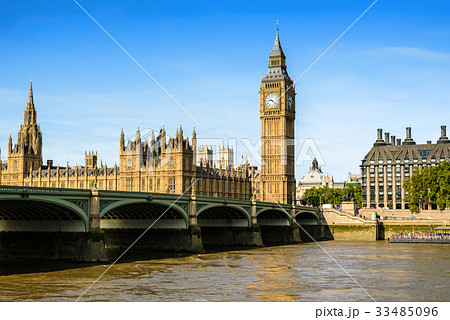 Big Ben and House of Parliament, London, UK 33485096