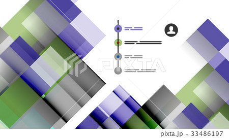 Business presentation geometric templateのイラスト素材 [33486197] - PIXTA