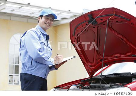 ロードサービス 整備士 故障 修理 自動車故障 イメージ 33487256