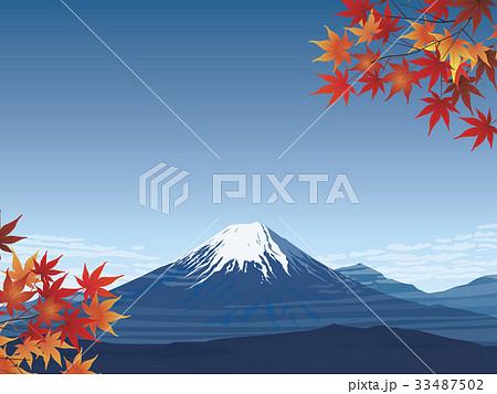 富士山と紅葉 33487502