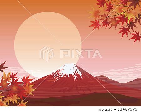 赤富士 33487575