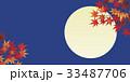 紅葉と満月 33487706