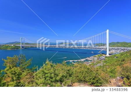 鷲羽山から見た下津井瀬戸大橋 33488396