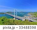 鷲羽山から見た下津井瀬戸大橋 33488398