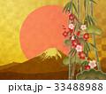 金箔 富士山 松竹梅のイラスト 33488988