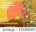 金箔 富士山 松竹梅のイラスト 33488989