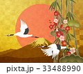 金箔 富士山 松竹梅のイラスト 33488990