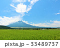 富士山 青空 夏の写真 33489737