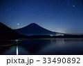 【静岡県】星空の田貫湖と富士山 33490892