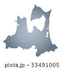 青森県地図 33491005