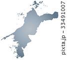 愛媛県地図 33491007
