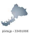 福井県地図 福井県 福井のイラスト 33491008