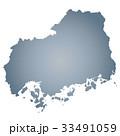 広島県地図 広島 広島県のイラスト 33491059