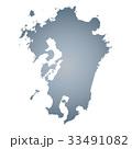 九州地図 33491082