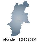 長野県地図 長野県 長野のイラスト 33491086