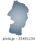 山形県地図 33491134