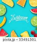Pineapple, Watermelon, Banana, Cherry, Orange 33491301