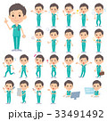 男性 医者 外科医のイラスト 33491492