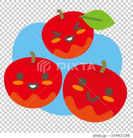 リンゴの親子(空色) 33492189
