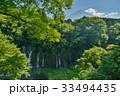 【静岡県】白糸の滝越しに、夏の富士山 33494435
