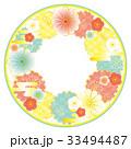 フレーム 和 菊花紋のイラスト 33494487